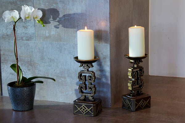 Ming Pillar Candle Holder
