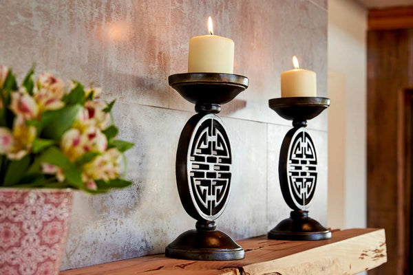 "Ming 3"" Pillar  Candle Holder"