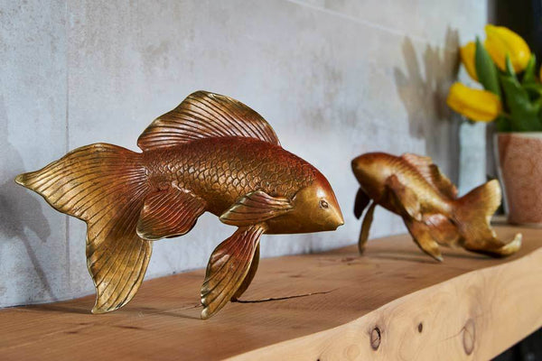 Double Koi Sculpture Pair
