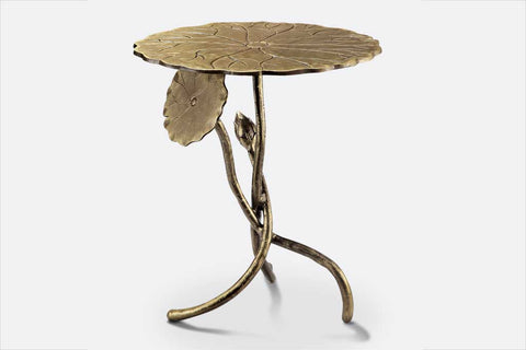 Ming Lotus Leaf Accent Table