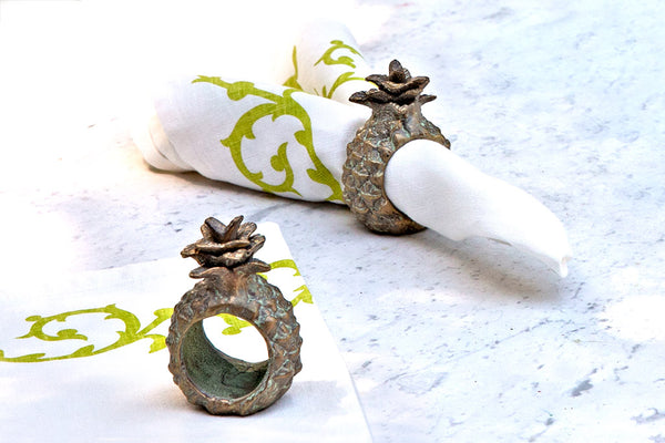 Piña Napkin Rings Set of 6