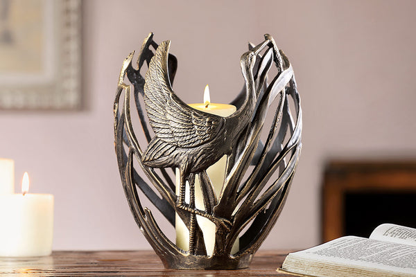 Ibis Couple Candleholder