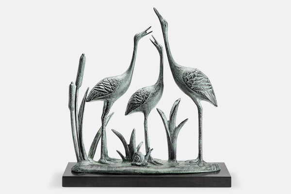 Crane Family Sculpture