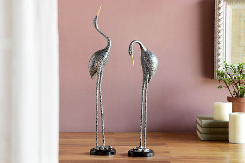 Elongated Crane Pair