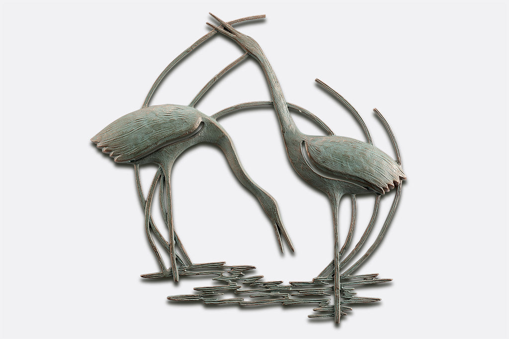 Crane Duo Wall Plaque