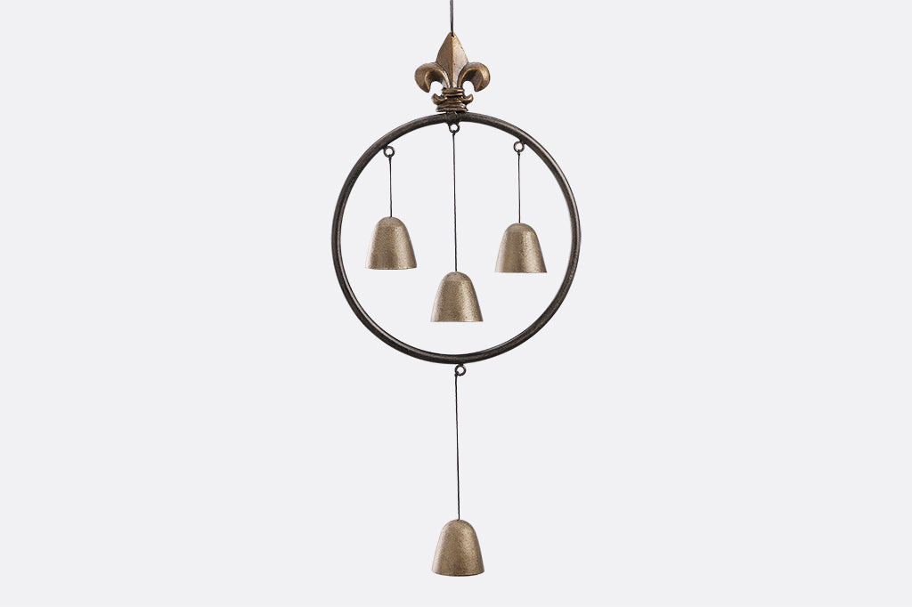 Encircled Bells with Fleur de Lys Windchime