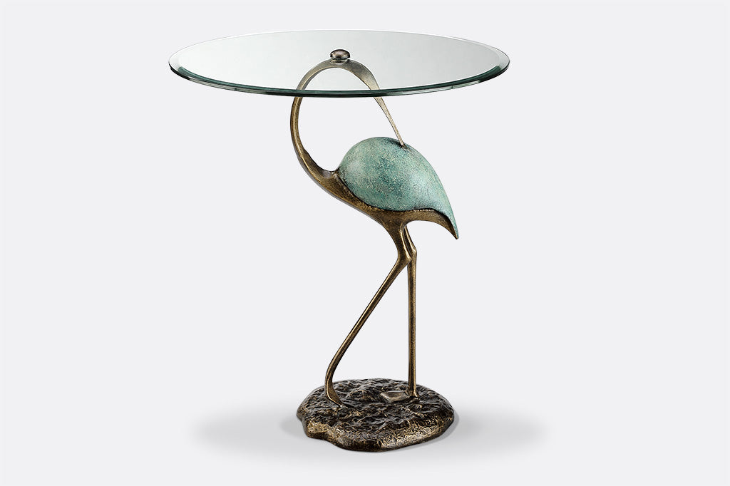 Patina Crane Accent Table