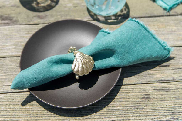 Pacifica Shell Napkin Rings Set of 6