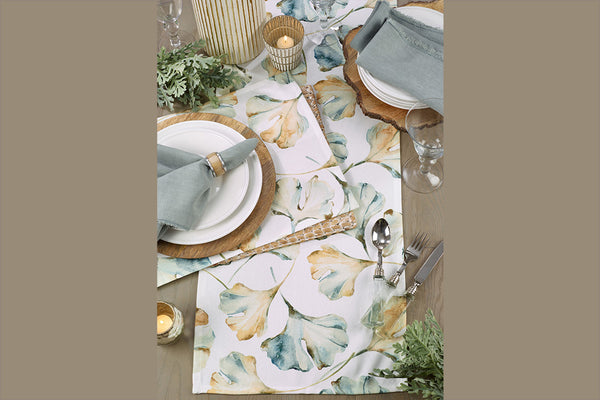 Floating Gingko Table Runner