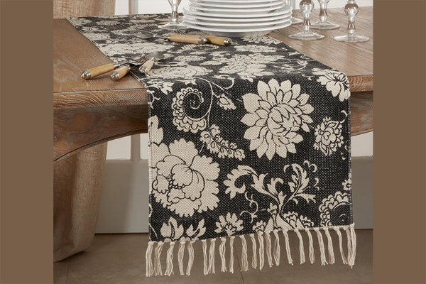 Exotic Peonies Table Runner