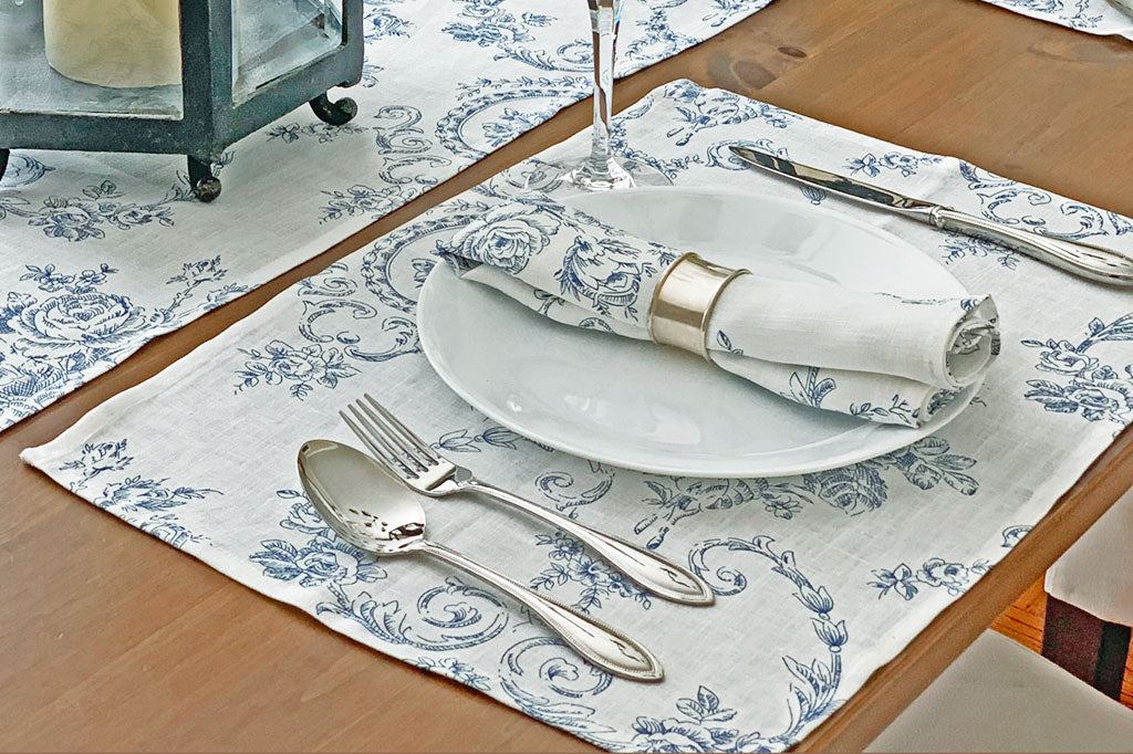 Toile Rose Bleue Placemat (Set of 4)