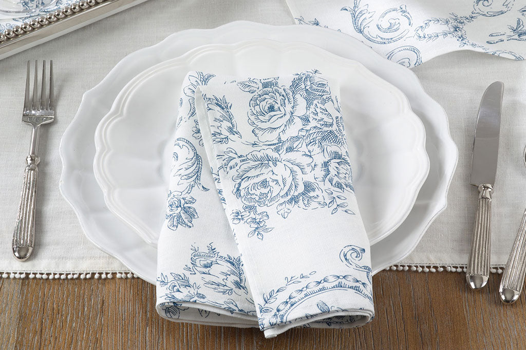 Toile Rose Bleue Napkin (Set of 4)