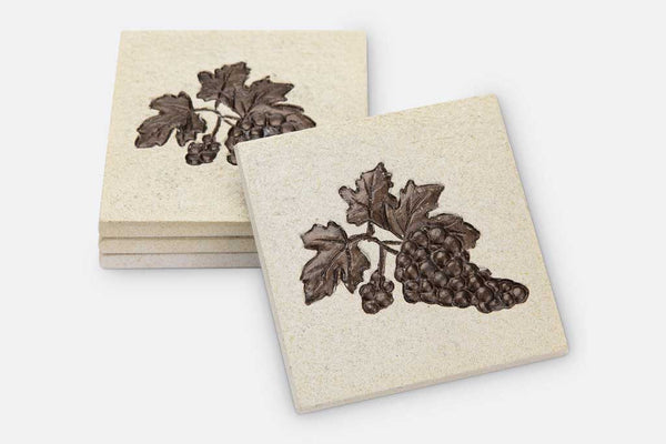 Coasters Grape Bunch Set of 4