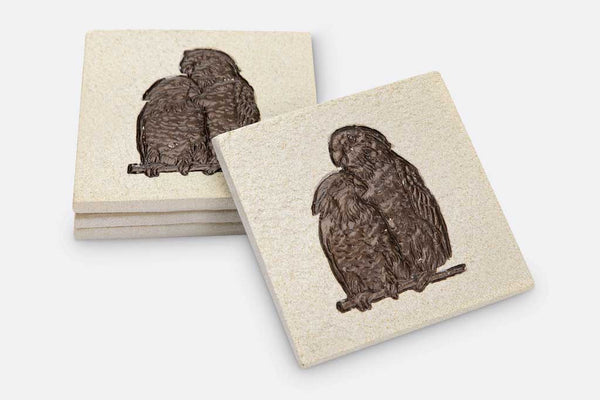 Coasters Loving Parrots Set of 4