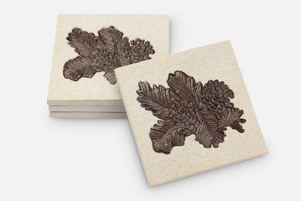 Coasters Pinecone and Pine Needle Set of 4