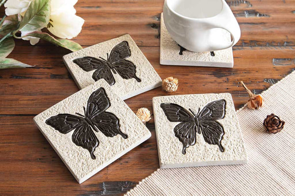 Coasters Butterfly Set of 4