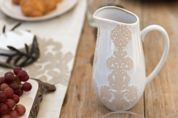 Damask Lace Pitcher