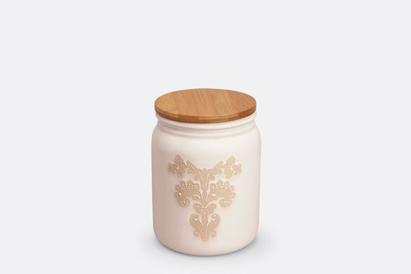 Damask Lace Canister Small