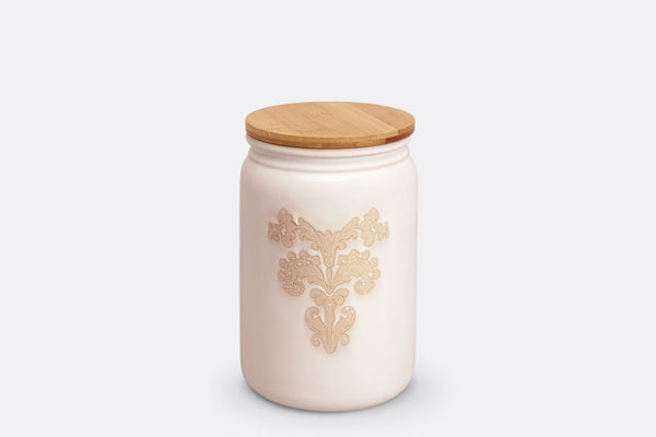 Damask Lace Canister Medium