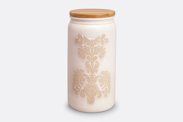 Damask Lace Canister Large