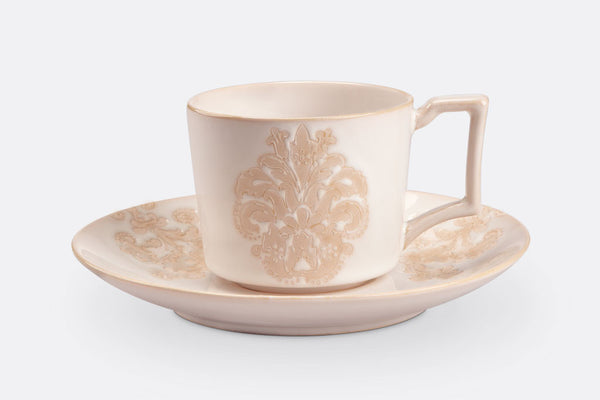 Damask Lace Tea Cup and Saucer