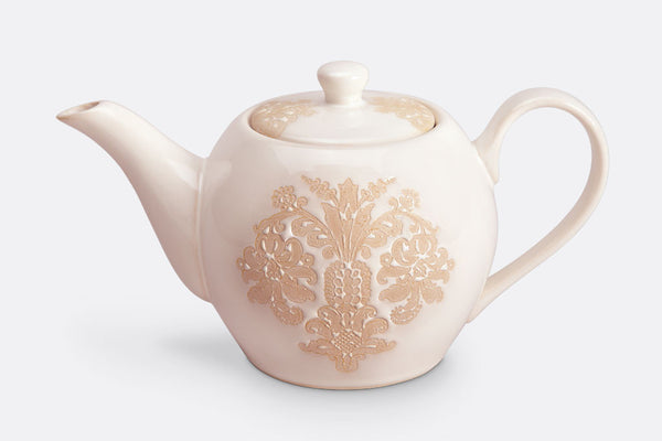 Damask Lace Teapot