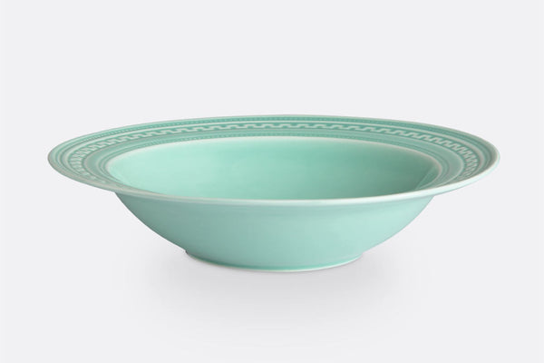 "Jade Fretwork Soup Bowl, 9"" Diameter, Set of 4"