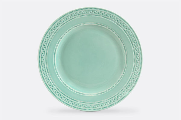 "Jade Fretwork Dinner Plate, 11"" Diameter, Set of 4"