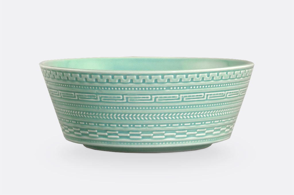 "Jade Fretwork Breakfast Bowl, 8"" Diameter, Set of 4"