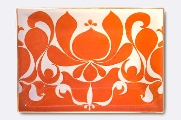 JR Ceramic Tangerine Tray