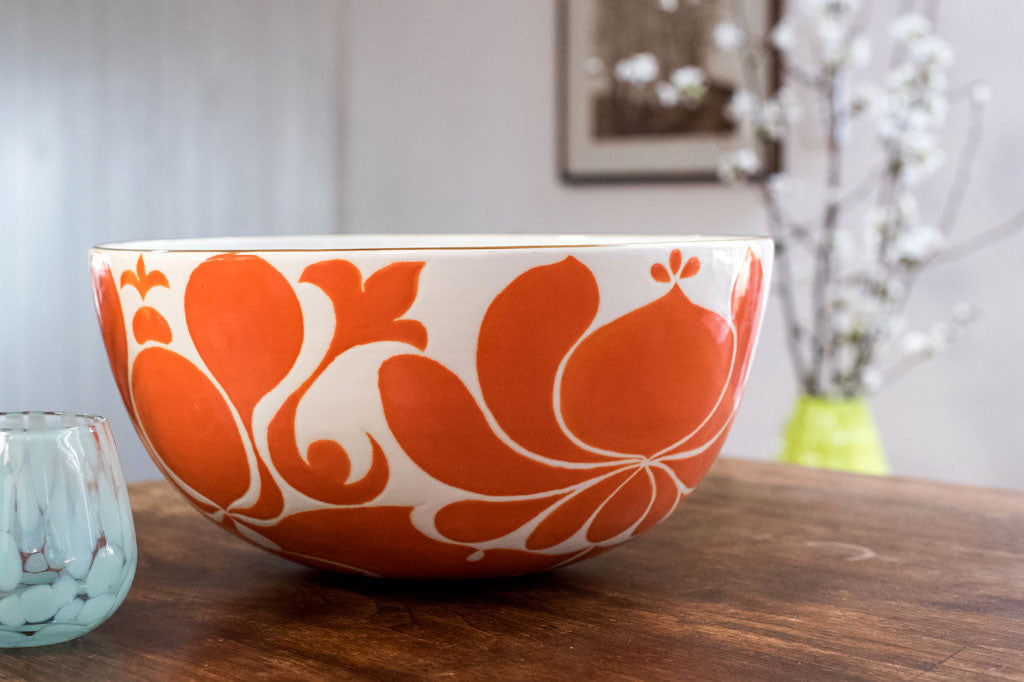 JR Large Ceramic Tangerine Bowl