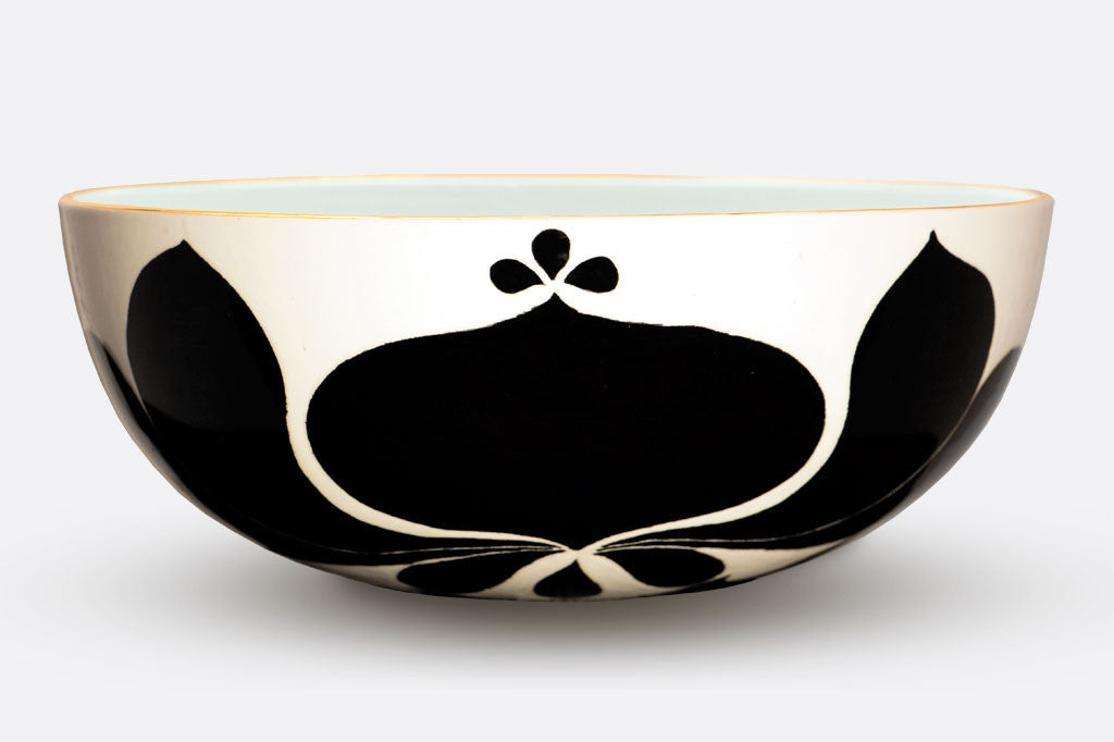 JR Ceramic Low Black Bowl