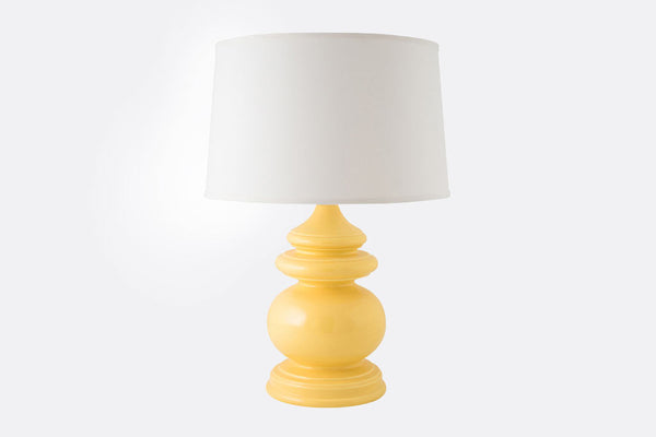 Yellow Chalet Lamp