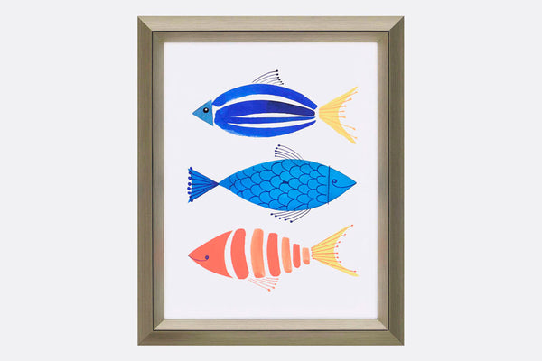 Fish Trio Framed Art