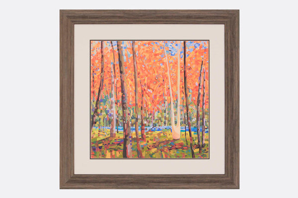 Fall Forest Framed Art