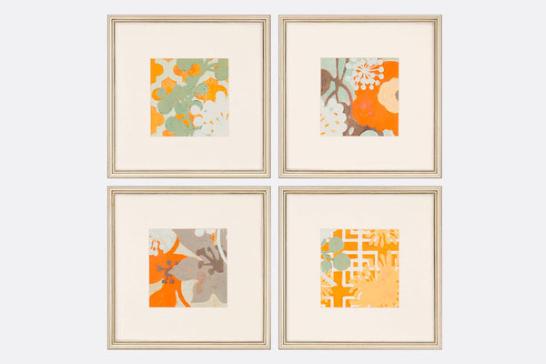 Ginger Flora Framed Art S/4