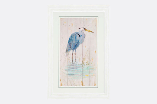Single Blue Heron Framed Art