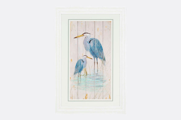 Blue Heron Family Framed Art