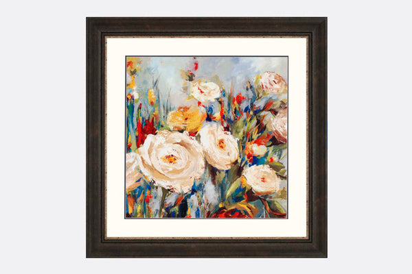 Flower Fields Framed Art