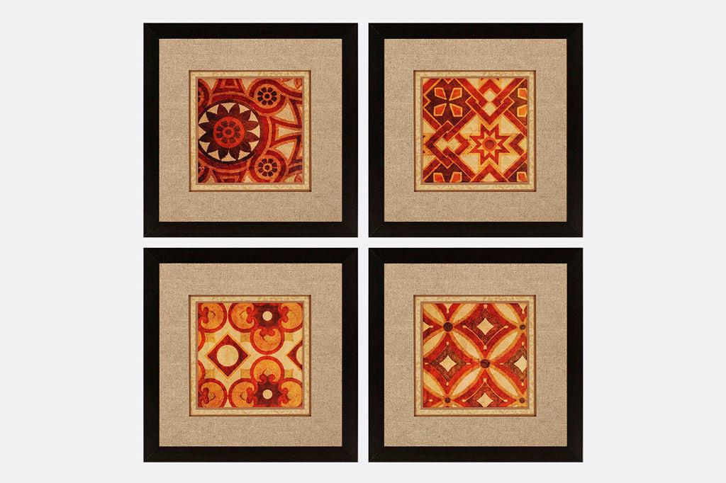 Tuscan Tiles Framed Art S/4