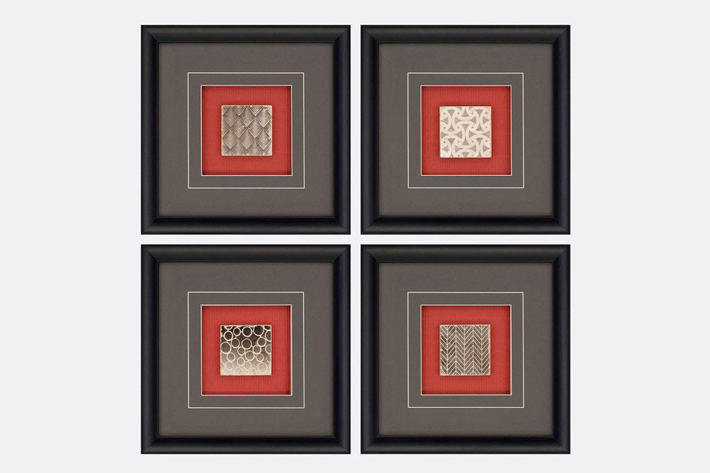 Tile Patterns Set of 4 Framed Art – Viridian Bay