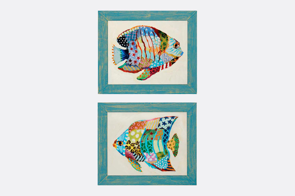 Carribean Fish Framed Art S/2