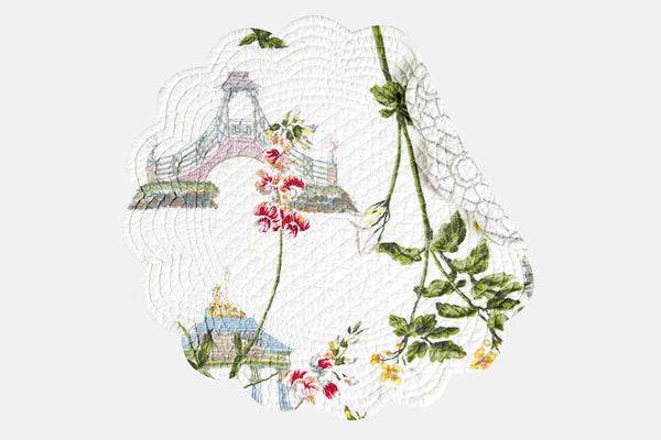 Belle Jardin Reversible Round Placemat