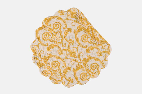 Tuscan Scroll Reversible Round Placemat