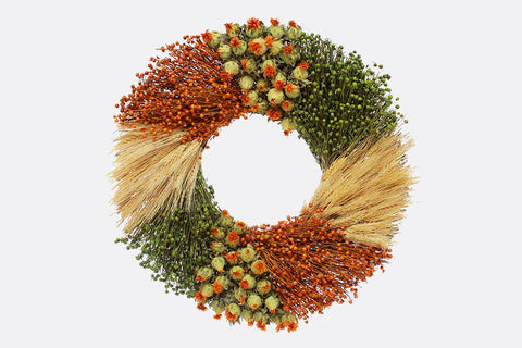 Campagne Francaise Round Floral Wreath