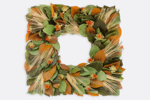 Autumnal Sunset Square Wreath