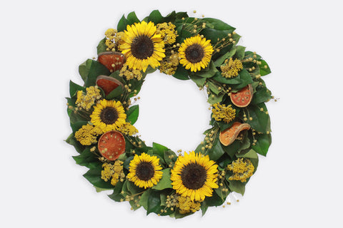Sunflowers & Sunshine Wreath