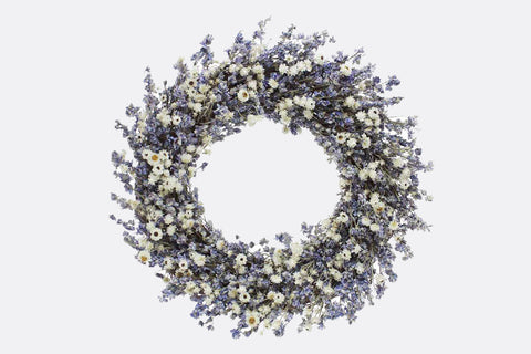 Larkspur Lush Wreath