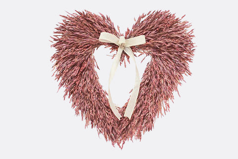 Pink Sweetheart Heart Shaped Wreath