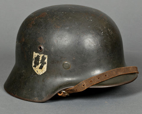 The Always Alluring Model 1935 Double Decal SS Helmet (Stahlhelm)